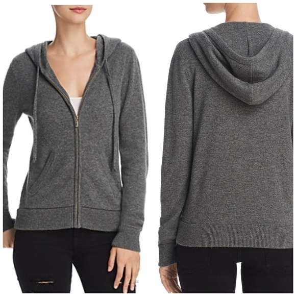 a057810a29d9 Juicy Couture Worsted Gray Cashmere Hoodie Sweater